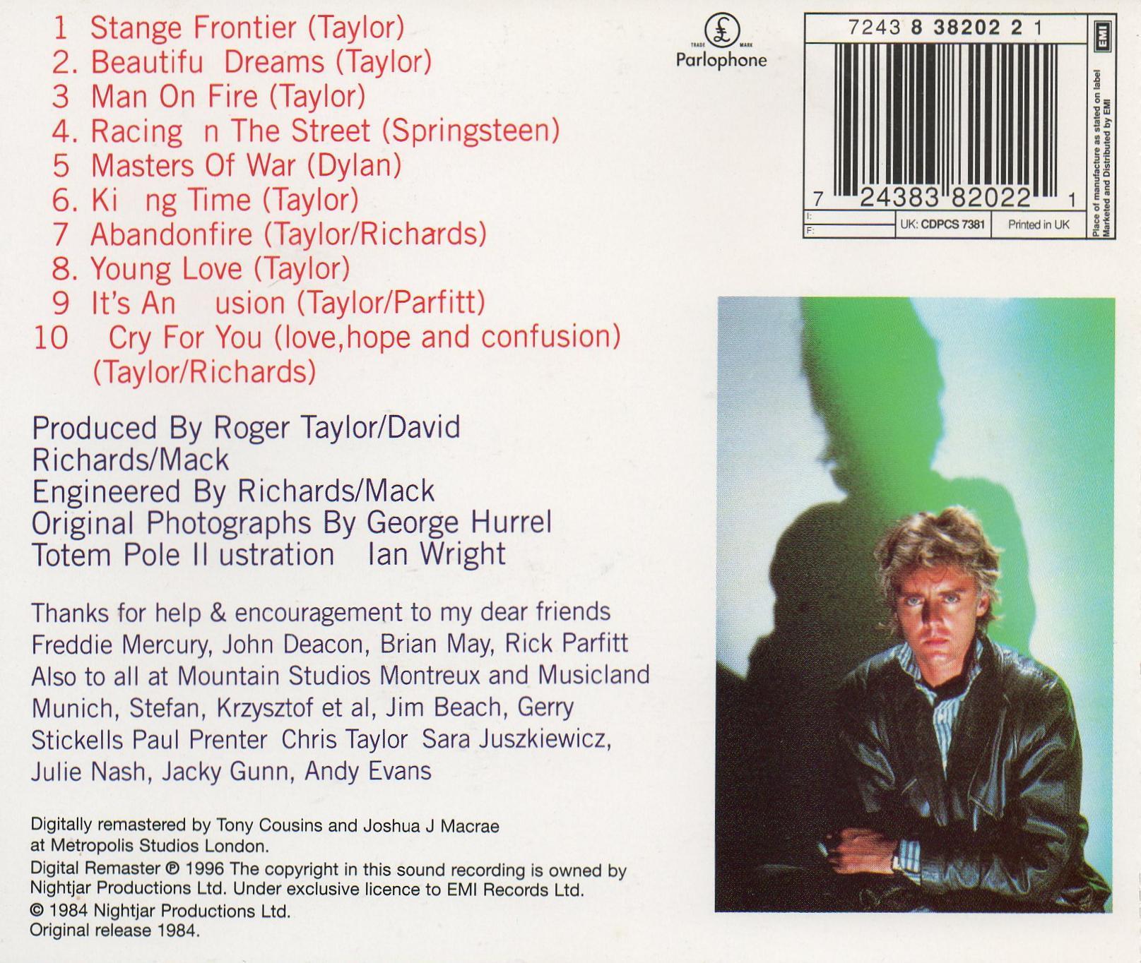 Roger Taylor Quot Strange Frontier Quot Album Gallery